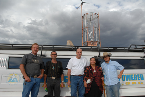 Joe Lacy, Josephine, Jeff Wingad, Grandmother Jean of the Cherokee Indian Nation, and Chris Sanders - Sustainable Angels!