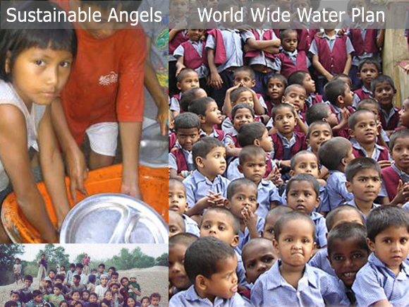 Sustainable Angels dedicated to the children of the earth - lets give them clean water!